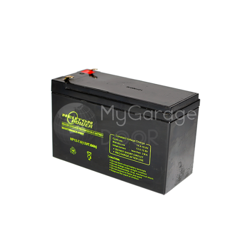 Battery 12v 7ah for 12v battery garage door opener